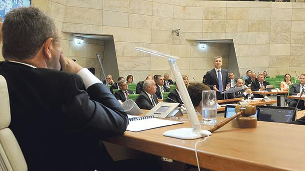 In this file photo former Opposition leader Simon Busuttil is seen speaking in Parliament during a debate on the Budget.