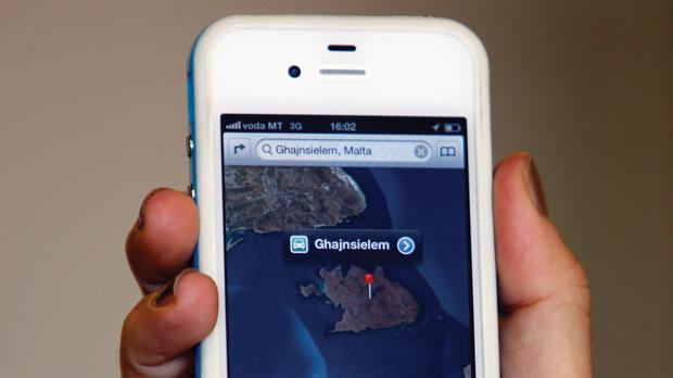 Għajnsielem is located on Comino and Rabat in the middle of fields, according to Apple Maps. Photo: Darrin Zammit Lupi