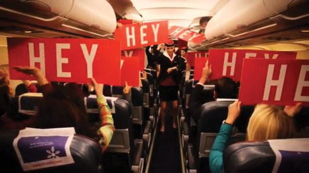 A scene from the Air Malta video.