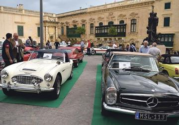 Valletta yesterday hosted the Concours d'Élégance, featuring a selection of the island's finest historic automobiles. Photos: Mark Zammit Cordina