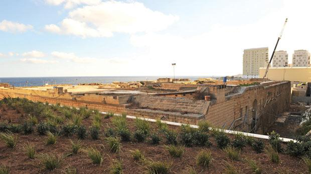 Residents in the luxury apartments say the fort is an eyesore. Photo: Chris Sant Fournier