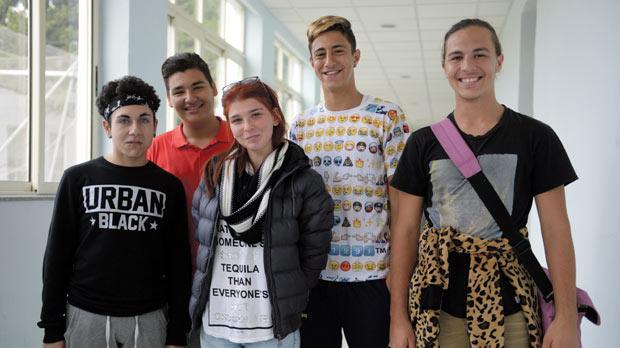 From left: Jesmar Gauci, James Sciberras, Kim Portelli, Alec Sultana and Jesmar Cassar form part of the GEM 16+ student council. Photo: Matthew Mirabelli