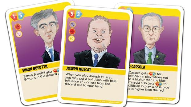 The Politicks card game, which casts players as party strategists, is designed by professor of computer science Gordon Pace and political cartoonist Mark Scicluna.