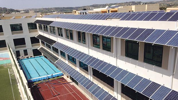 Monitoring of energy efficiency measures at St Nicholas College primary school will provide ideas for retrofitting of more schools in Malta and the Med. Photo: Water and Energy Agency.