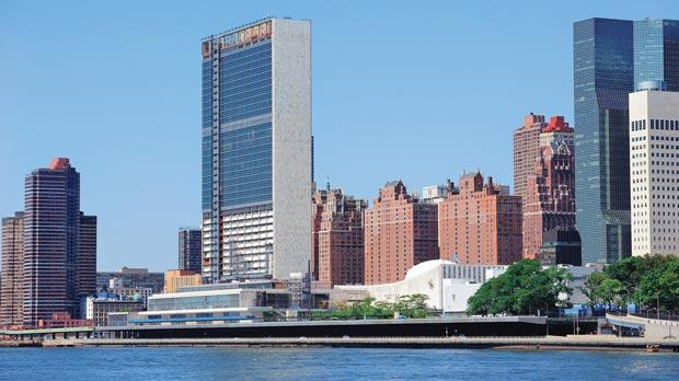 The UN headquarters in New York.