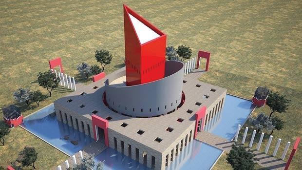 Richard England's design concept for the interfaith centre.