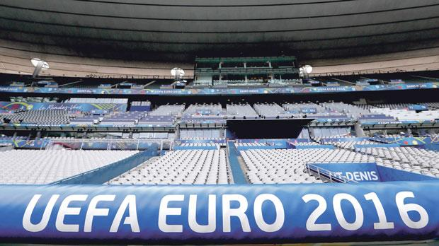 The Stade de France in Saint-Denis before the start of the UEFA 2016 European Championship in Paris, France. Photo: Reuters, Gonzalo Fuentes