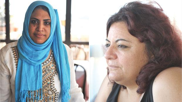 Mona El Shemy. Photo: Chris Sant Fournier. Right: Rasha Omran. Photo: Matthew Mirabelli.