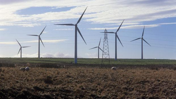 A wind farm in Scotland. Photo: AFP