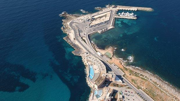 The missing link... Is building a road under the seabed feasible? Photo shows the Gozo ferry terminal at Ċirkewwa. Photo: Chris Sant Fournier