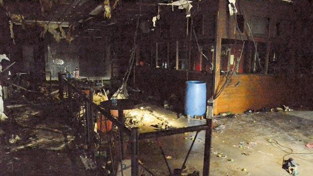 The damaged bar area of the Boate Kiss nightclub is pictured in the southern Brazil city of Santa Maria. A fire at the club killed at least 231 people early on Sunday . Photo: Wuri Weber/Agencia O Dia