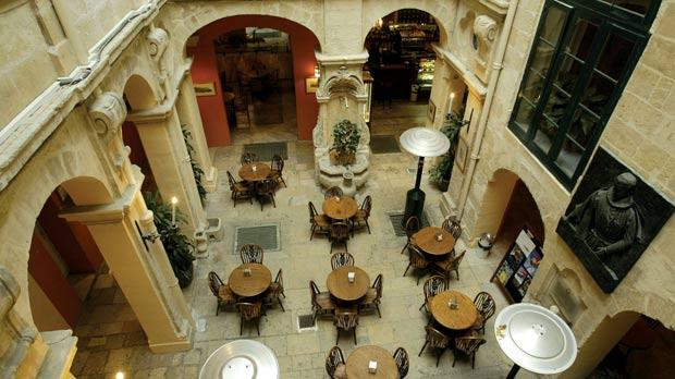 The property is known as Palazzo Bonici and has housed the Manoel Theatre's bar and restaurant for many years. Photo: Darrin Zammit Lupi