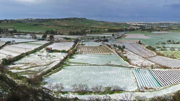 Sudden Hailstorm Carpets Central Malta