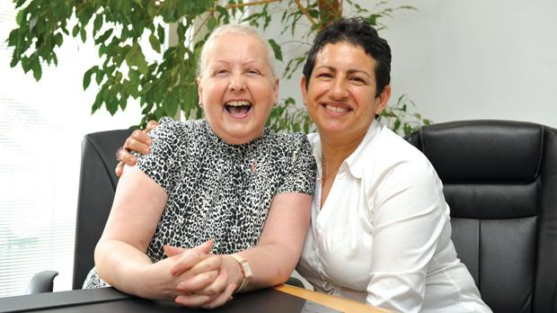 Helen Muscat, left, and Esther Sant founded Action for Breast Cancer Foundation. Photo: Matthew Mirabelli