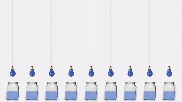 Light Bulbs, Water And Jars by Elisa von Brockdorff