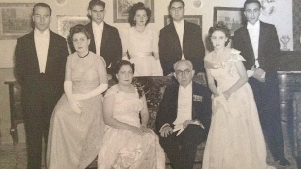 Sir Paul Boffa (seated, centre) with family and friends.