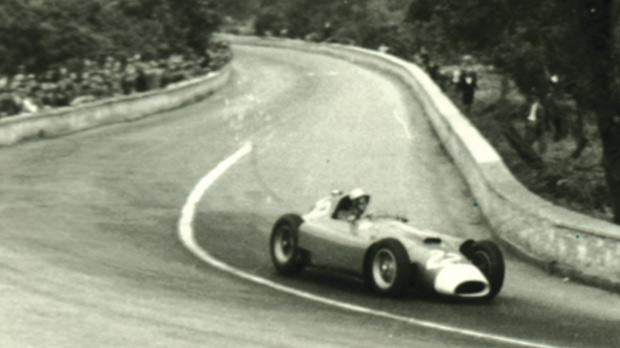 Luigi Musso drove his Ferrari to second place.