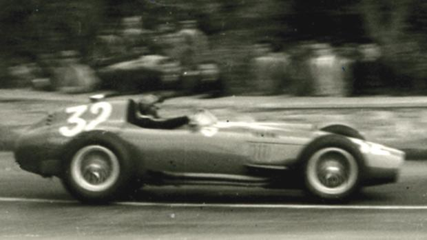 Peter Collins' Ferrari, winner in 1957.