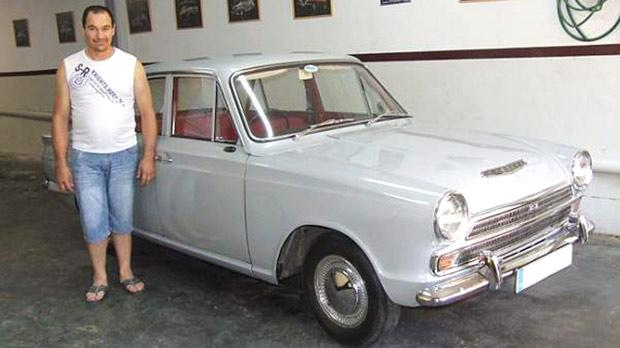 Zammit with his 1964 Ford Cortina Mark I.