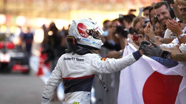 Japan – Kamui Kobayashi secures a podium finish on home ground.