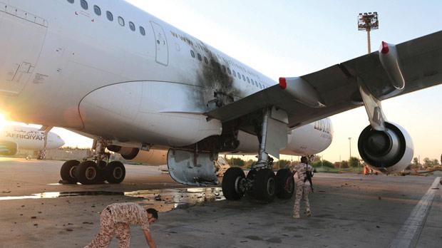The area around Tripoli International Airport is under the control of former fighters from the western town of Zintan who have held it since the fall of Tripoli in 2011. Photo: Hani Amara/Reuters