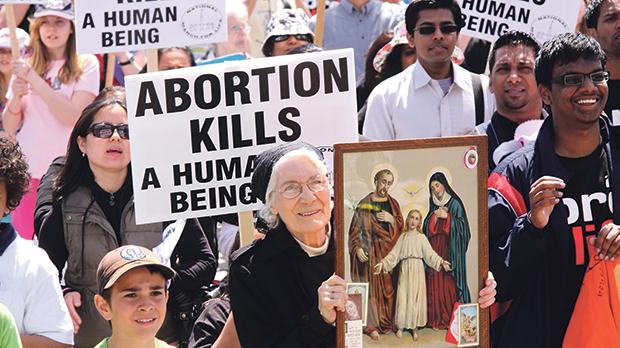 Opposition to abortion is not a self-evident conservative stance. Every time it's been depicted this way, it has been to the political disadvantage of the opponents. Photo: Art Babych/Shutterstock.com