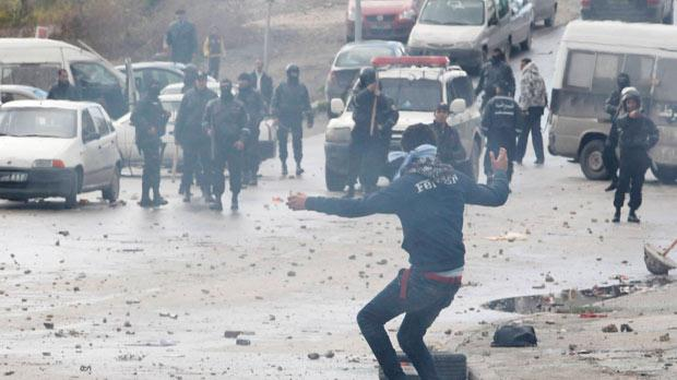 Violent protests broke out in Tunisia following the assassination of leading opposition figure Chokri Belaid last Wednesday. Photo: Reuters