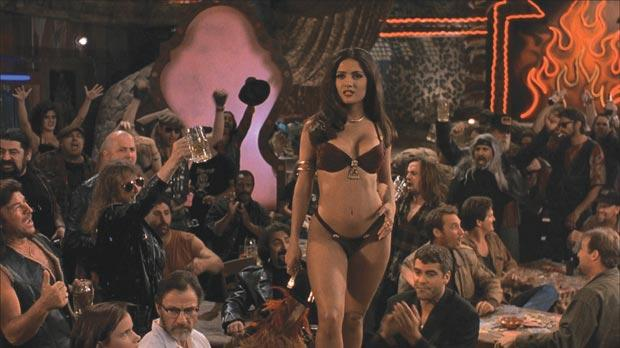Salma Hayek puts on the snake charm in From Dusk Till Dawn.