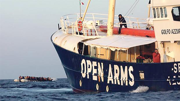 The Golfo Azzurro, which was denied entry into both Maltese and Italian ports. Photo: Reuters
