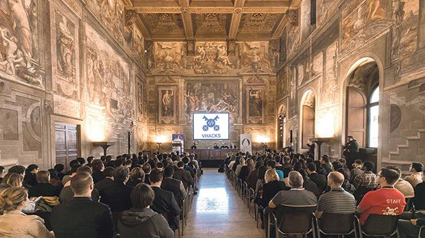 Opening of the Hackathon at Palazzo della Cancelleria, the former Apostolic Chancery of the Pope.