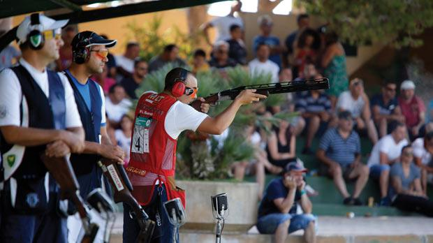 Young Nathan Lee Xuereb taking aim during last year's Grand Prix in Bidnija.