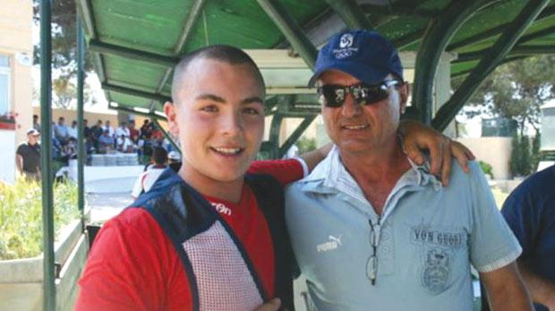 Nathan Lee Xuereb (left) with coach Jimmy Bugeja.