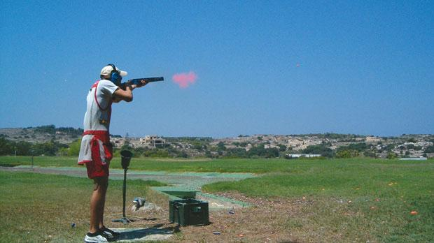 Clive Farrugia – remarkable rounds in skeet shoot.