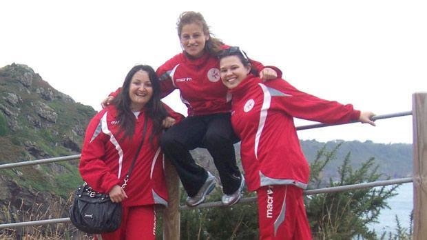 (Left to right) Alison Vella, Eleanor Bezzina and Marianna Kisvardai.