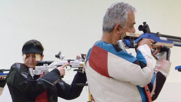 Air Rifle competitors at the Bidnija ranges.