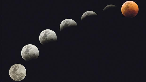 Lunar eclipse puts on dazzling celestial display