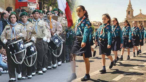 Scouts And Guides Parade On Sunday