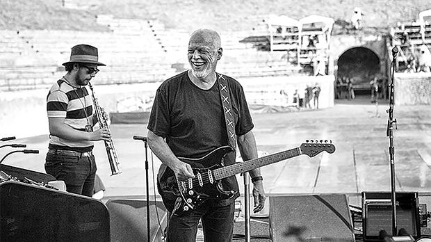 David Gilmour Live at Pompeii features performances from an all-star band.