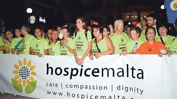 Participants during one of the annual midnight walks organised by Hospice Malta. Photo: Reuben Seychell Photography