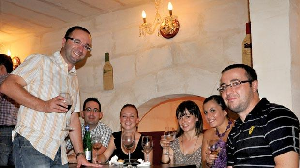Gordon Farrugia Neville Brincau Elaine Olivianne Corinne Zammit And Robert At Sensations Wine Bar In Birkirkara Which Recently
