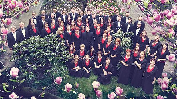 One of the participating choirs, the Academic Choir of the Silesian University of Technology in Gliwice, Poland.