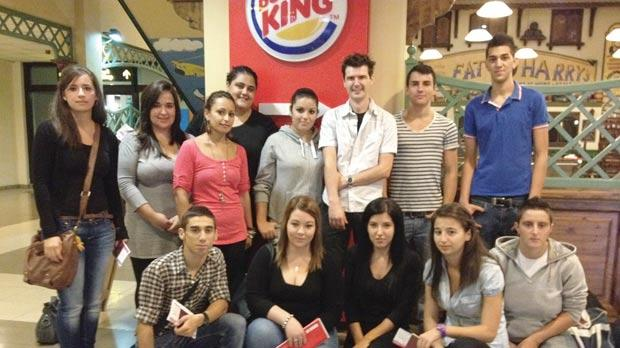 The Burger King Malta winning crew prior to their departure to London at MIA.