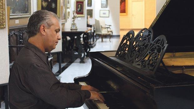 Michael Laus will be playing a 126-year-old Blüthner piano at the Mdina Cathedral Musuem on Friday.