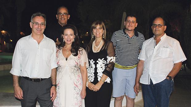 Mr and Mrs Fiorentini, Richard Cassar, Anette Cassar, Karl Falzon and Henry Cassar.