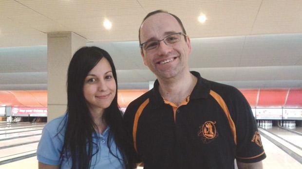 Gold Cup winners… Stephanie Said and David Fenech.