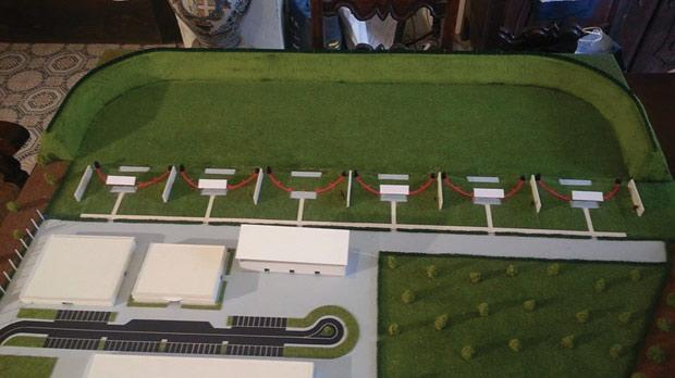 A model of the new MSSF shooting range. Construction is expected to start next year.