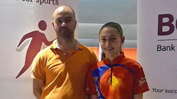 Platinum Cup winners Kenneth Arpa and Sara Xuereb.