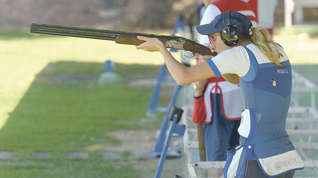 Jessica Rossi during competition at the Bidnija Ranges. Photo: Matthew Mirabelli