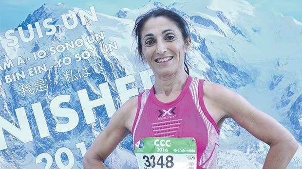 Thrilled... Agones runner Nadia Portelli at the CCC 101km finish line.