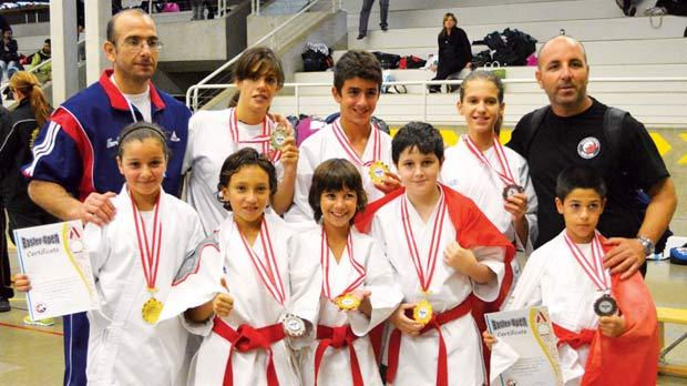 The Malta Karate Federation martial artists and their coaches.